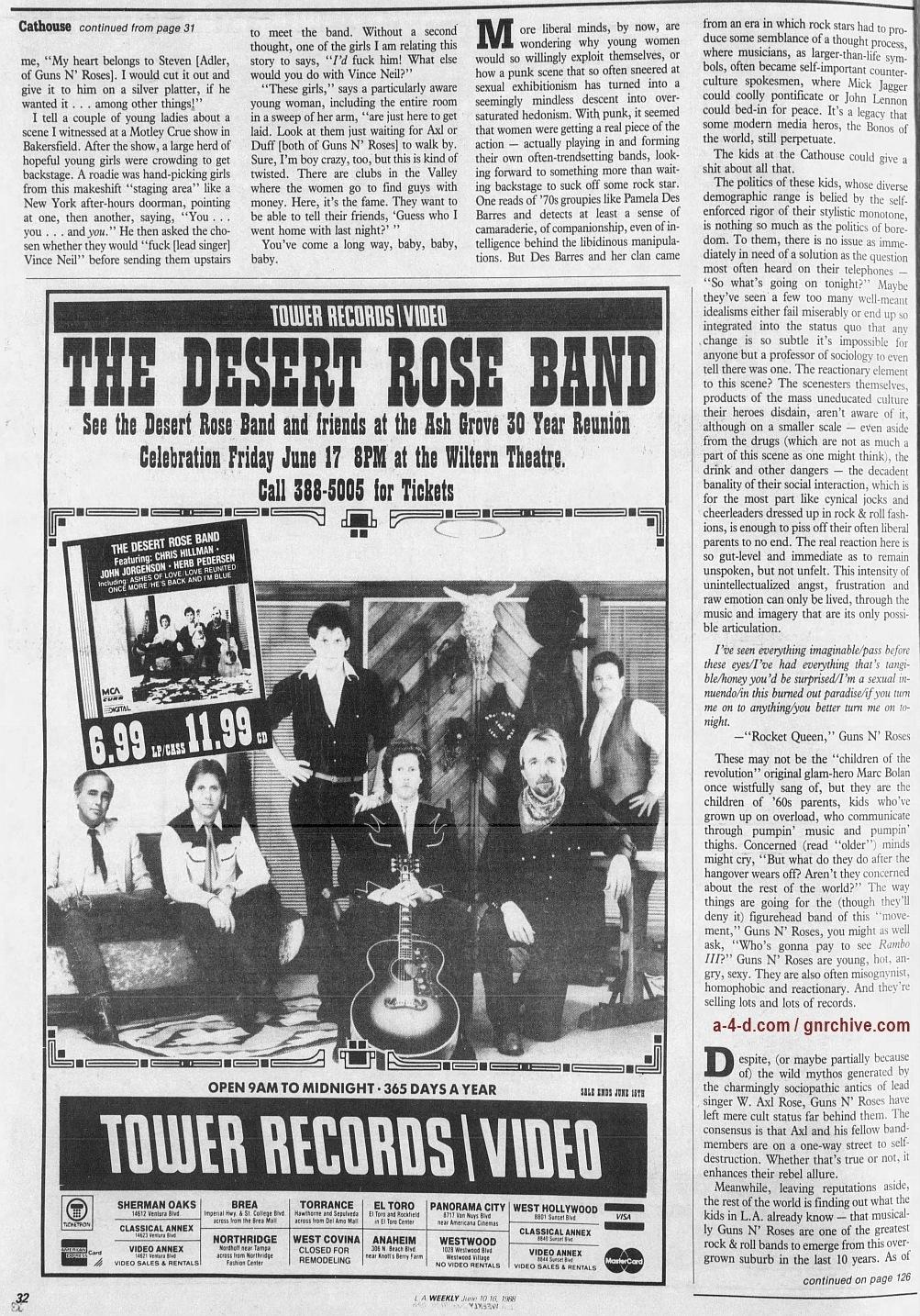 1988.06.10 - L.A. Weekly - Bad Boys, Great Noize (Axl, Slash, Duff) 1988_086