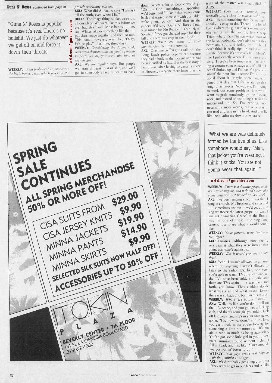 1988.06.10 - L.A. Weekly - Bad Boys, Great Noize (Axl, Slash, Duff) 1988_090