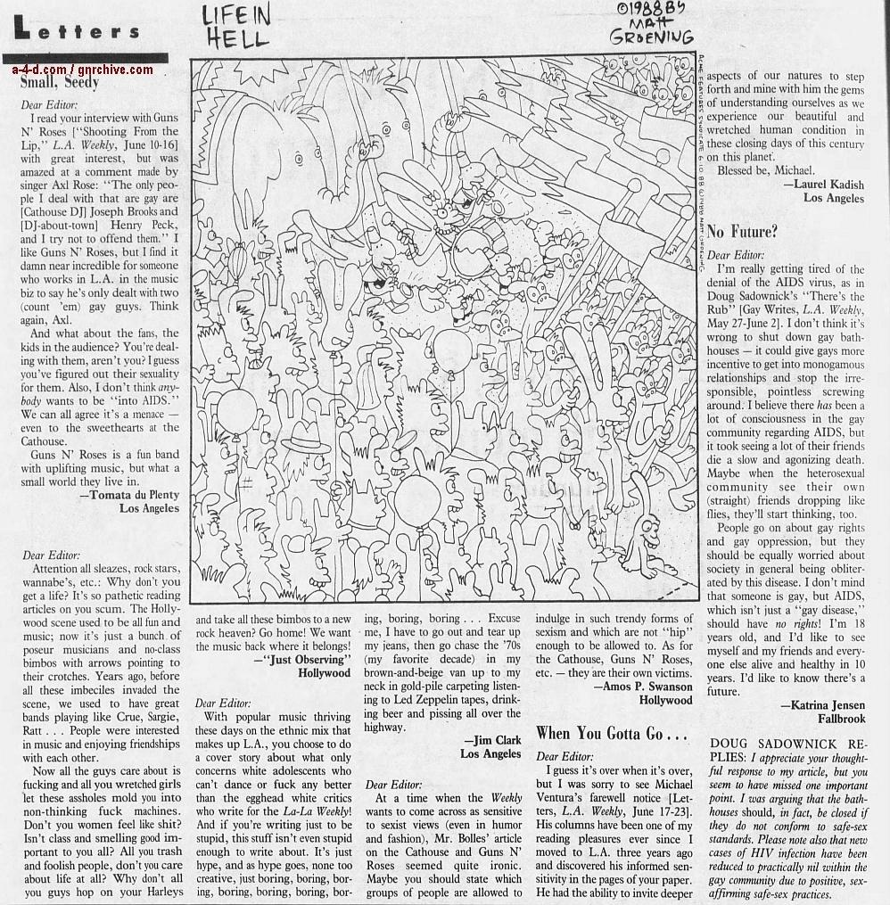 1988.06.10 - L.A. Weekly - Bad Boys, Great Noize (Axl, Slash, Duff) 1988_092