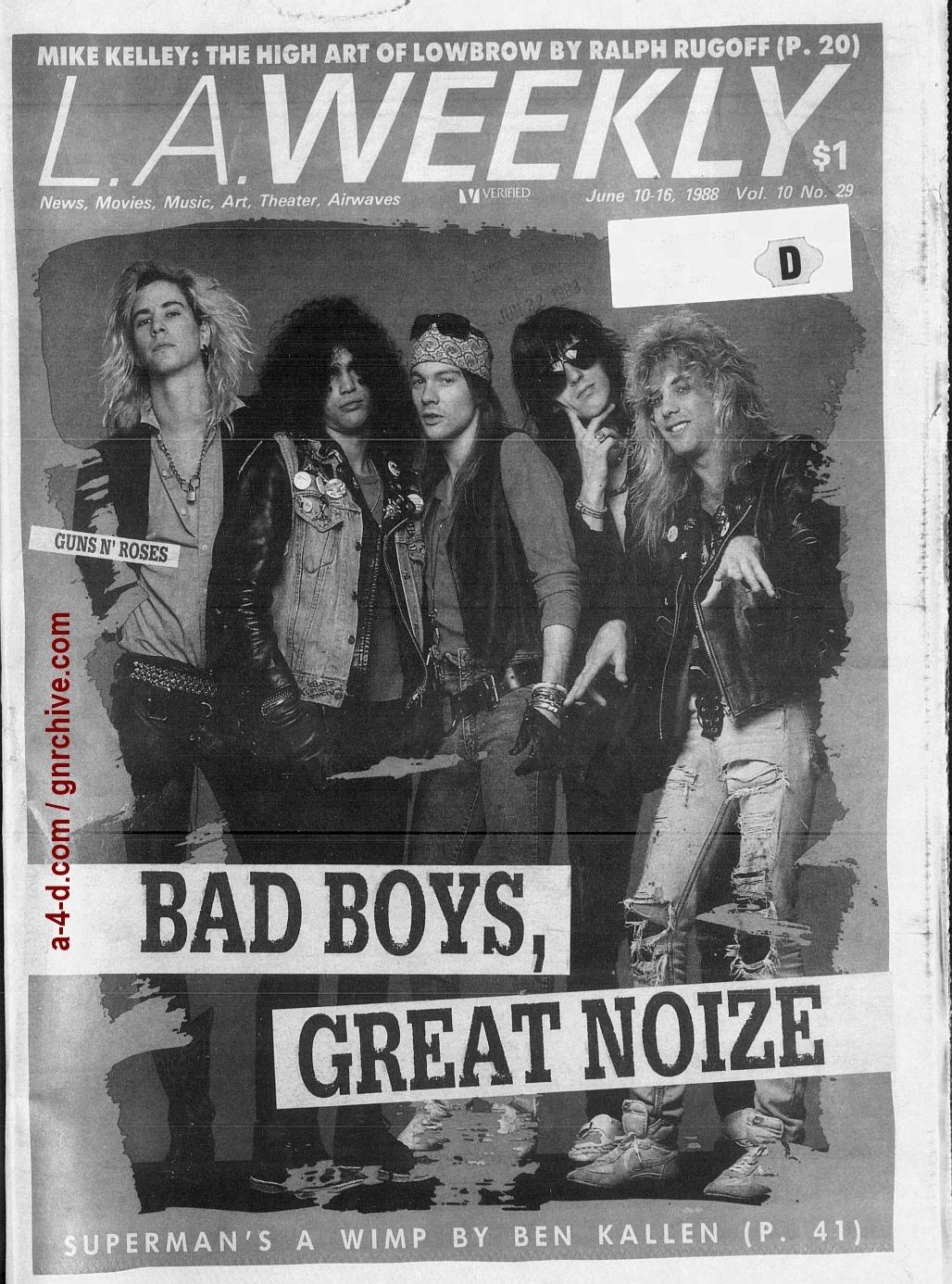 1988.06.10 - L.A. Weekly - Bad Boys, Great Noize (Axl, Slash, Duff) 1988_095