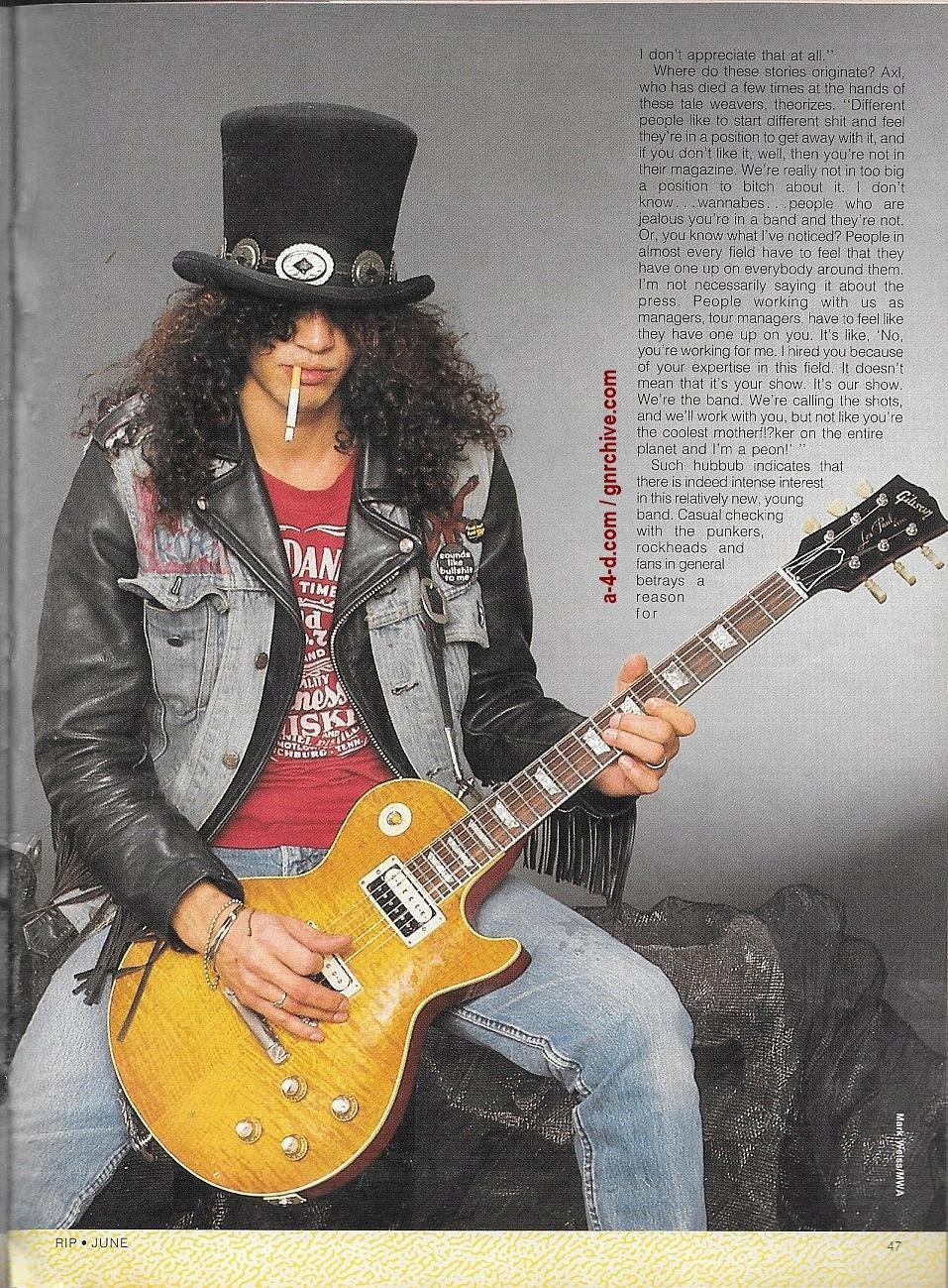 1988.06.DD - RIP Magazine - Guns N' Roses On The Stairway To Rock Heaven (Axl, Slash, Izzy, Duff) 1988_104