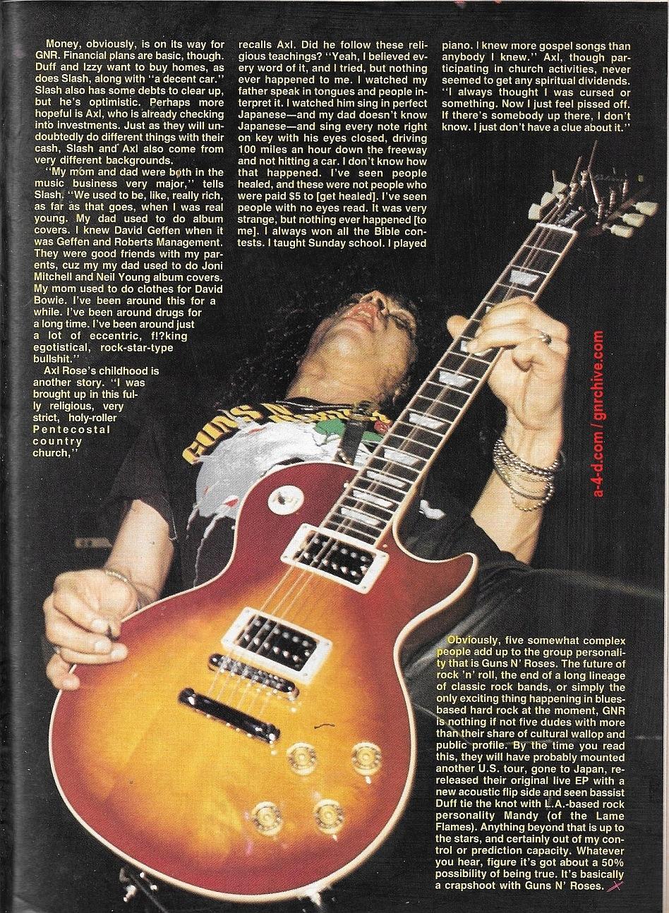 1988.06.DD - RIP Magazine - Guns N' Roses On The Stairway To Rock Heaven (Axl, Slash, Izzy, Duff) 1988_107