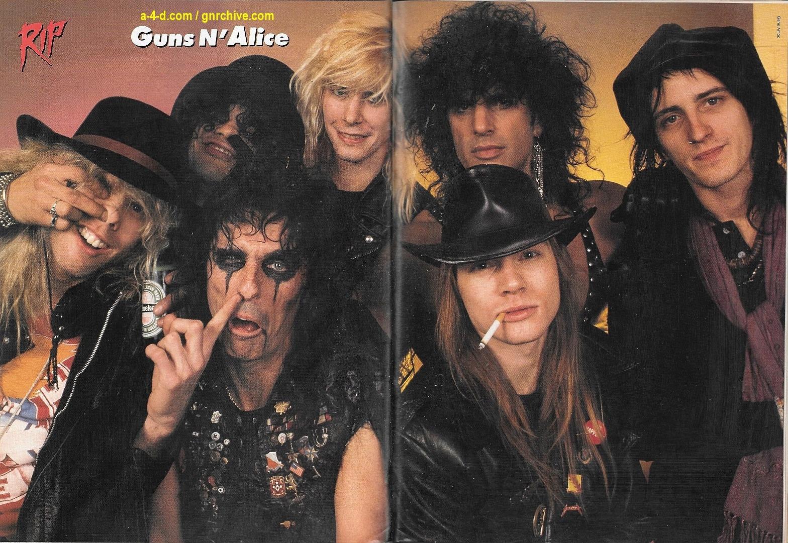 1988.06.DD - RIP Magazine - Guns N' Roses On The Stairway To Rock Heaven (Axl, Slash, Izzy, Duff) 1988_108