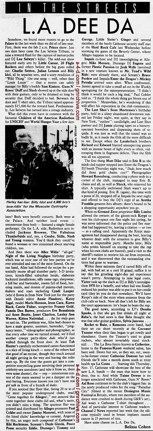 1988.11.18 - L.A. Weekly - L.A. Dee Da (Axl, Slash, Duff) 1988_111
