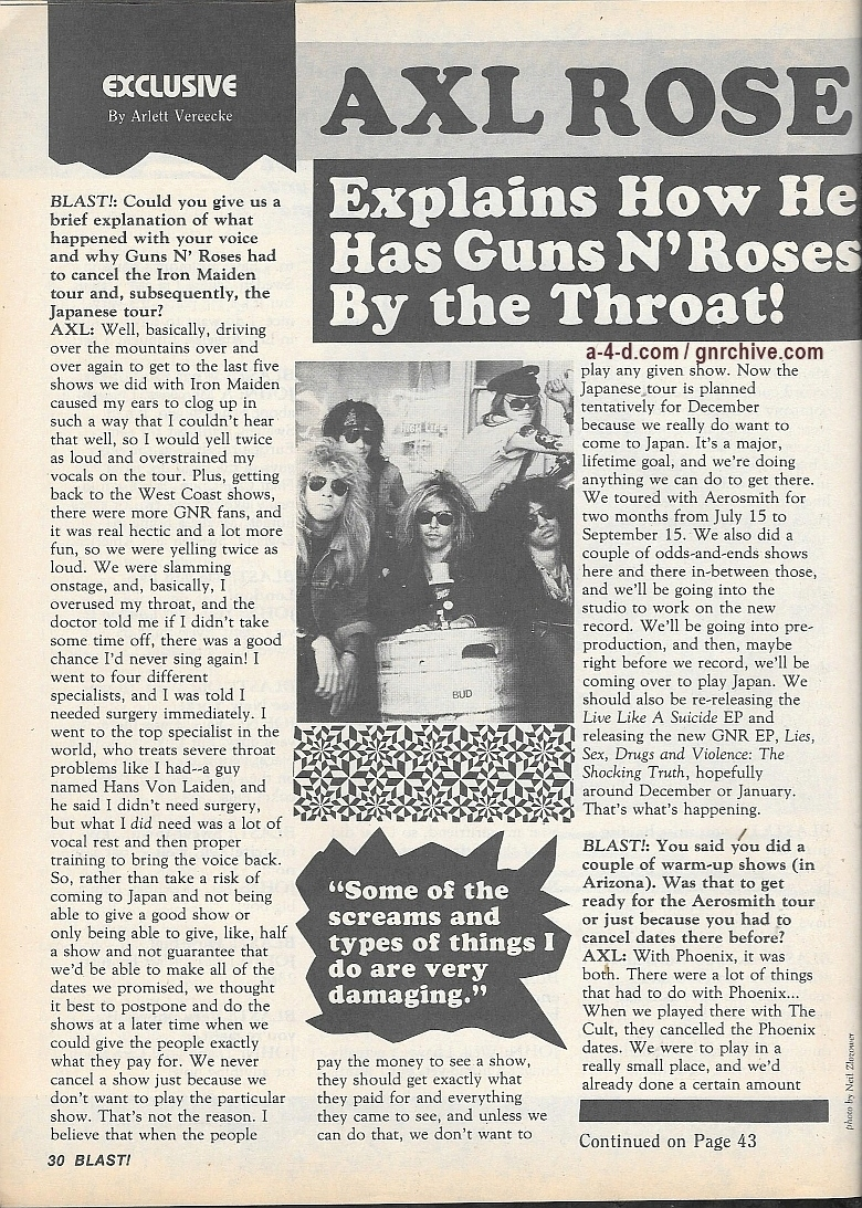 1988.11.DD - Blast! - Axl Rose Explains How He Has Guns N' Roses By the Throat! 1988_115
