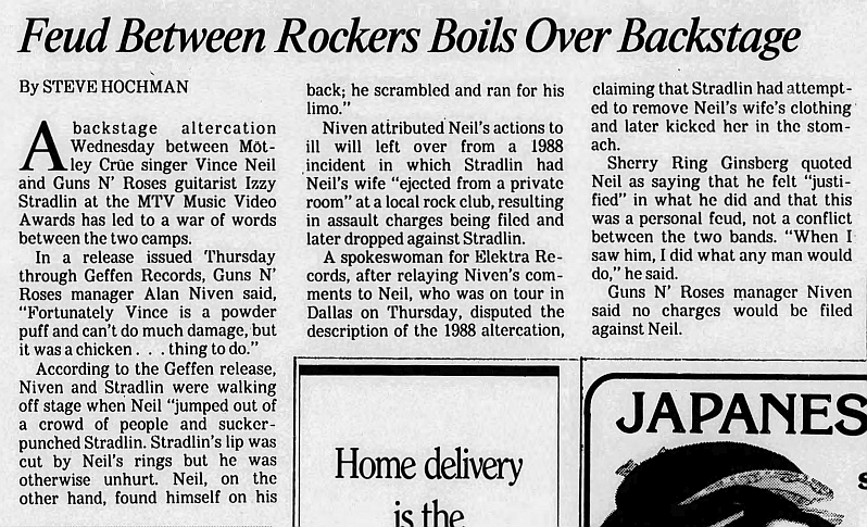 1989.09.08 - Los Angeles Times - Feud Between Rockers Boils Over Backstage at MTV Awards 1989_010