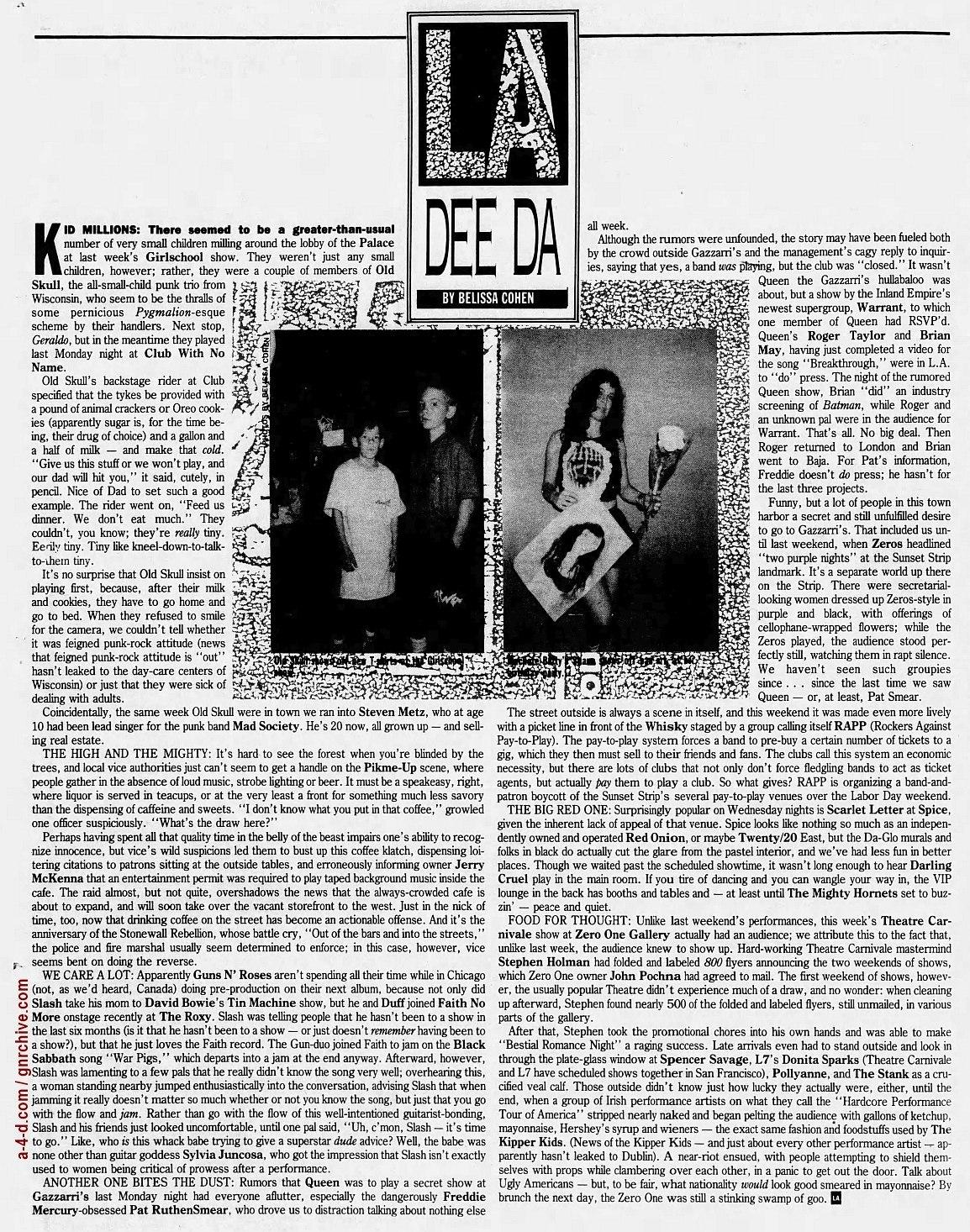 1989.06.30 - L.A. Weekly - L.A. Dee Da (Slash, Duff) 1989_020