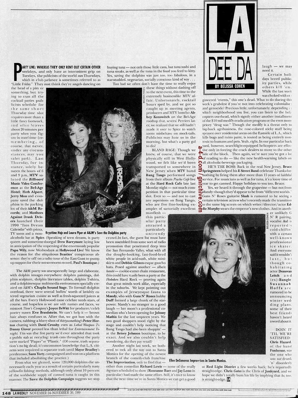 1989.11.24 - L.A. Weekly - L.A. Dee Da (Axl, Slash, Duff) 1989_113