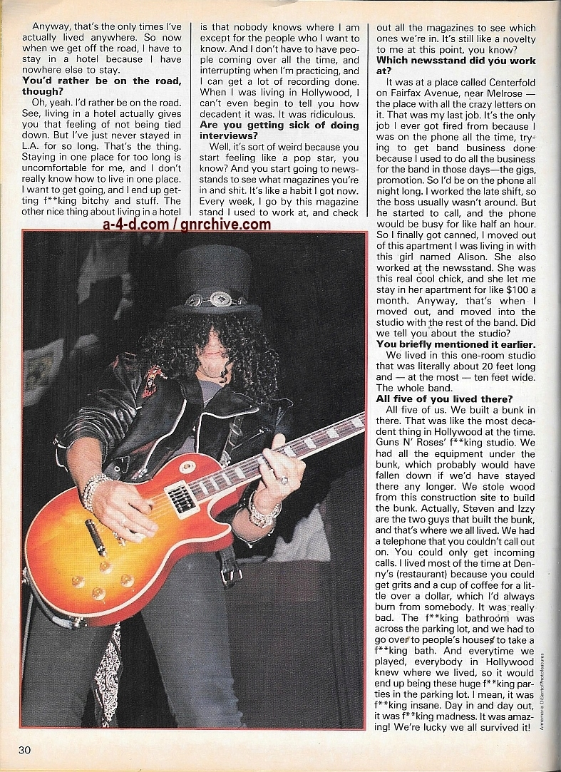 1989.10.DD - Creem Close-Up Metal - Guns N' Roses: An intimate chat with Slash 1989_122
