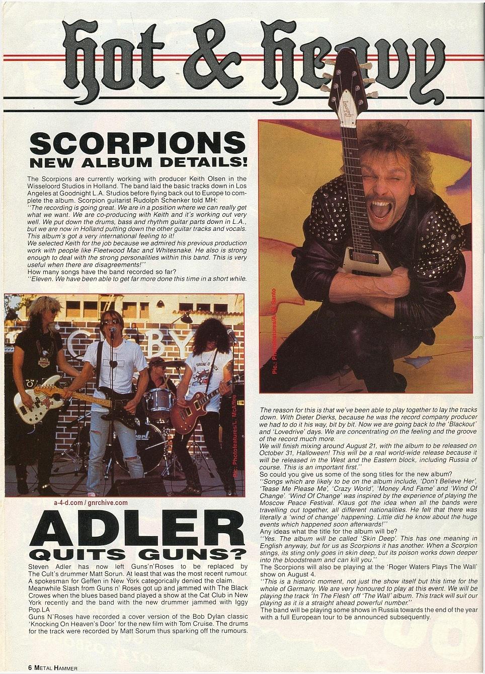 1990.07.30 - Metal Hammer - Adler Quits Guns? 1990-010