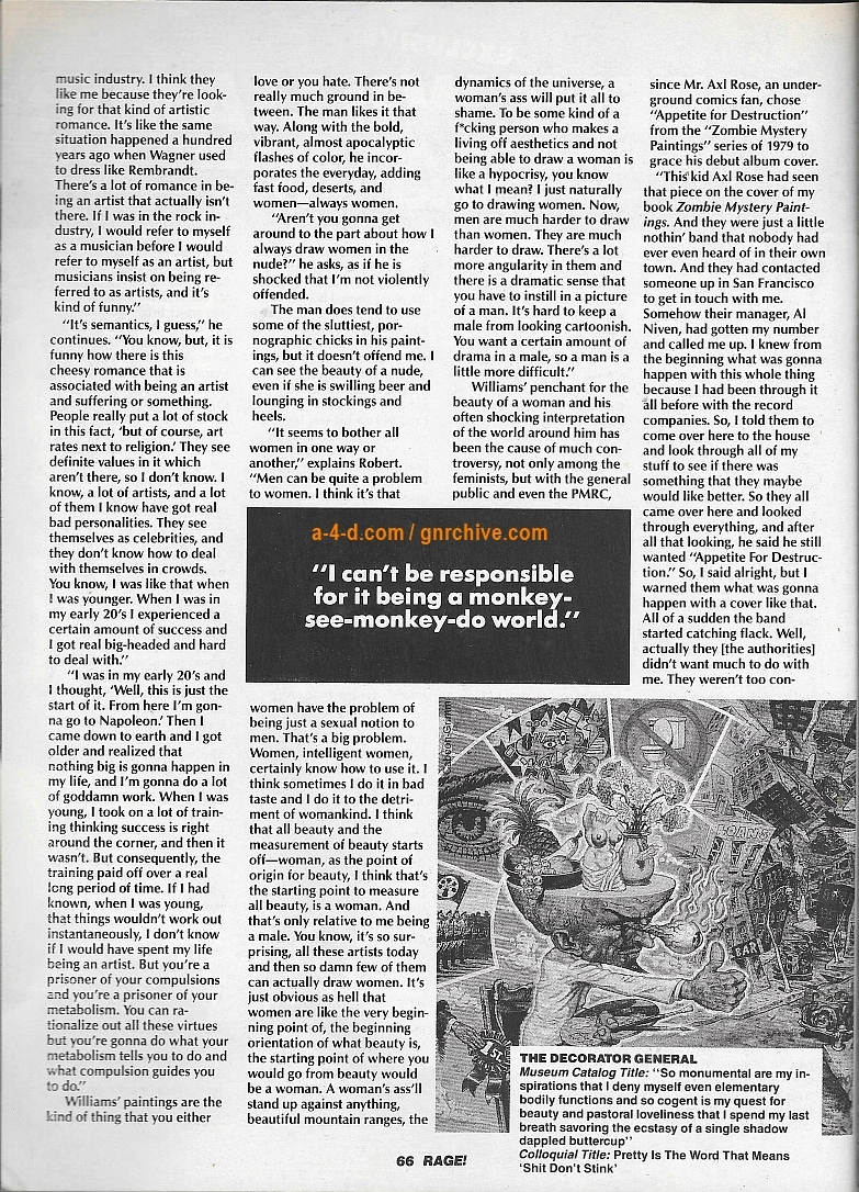 1990.05.DD - Rage Magazine - Robert Williams: Fouling The Art World's Nest Since 1957 1990_050