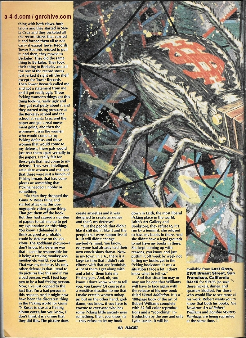 1990.05.DD - Rage Magazine - Robert Williams: Fouling The Art World's Nest Since 1957 1990_051