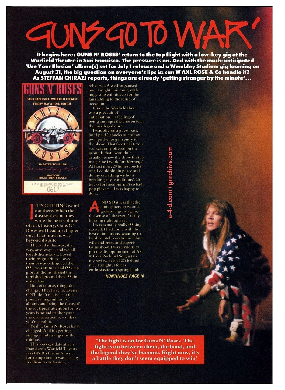 1991.05.09 - Warfield Theatre, San Francisco, USA 1991-014