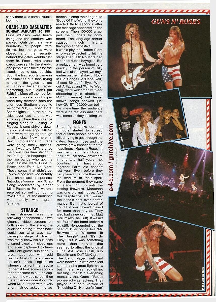 1991.02.25 - Metal Hammer - Rock In Rio II: Priest N' Guns On Top In Brazil 1991-022