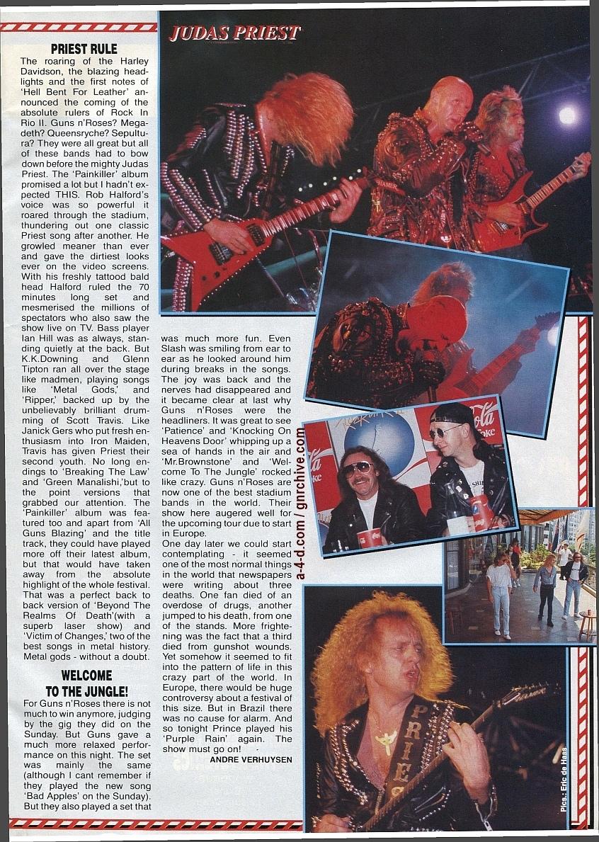 1991.02.25 - Metal Hammer - Rock In Rio II: Priest N' Guns On Top In Brazil 1991-025