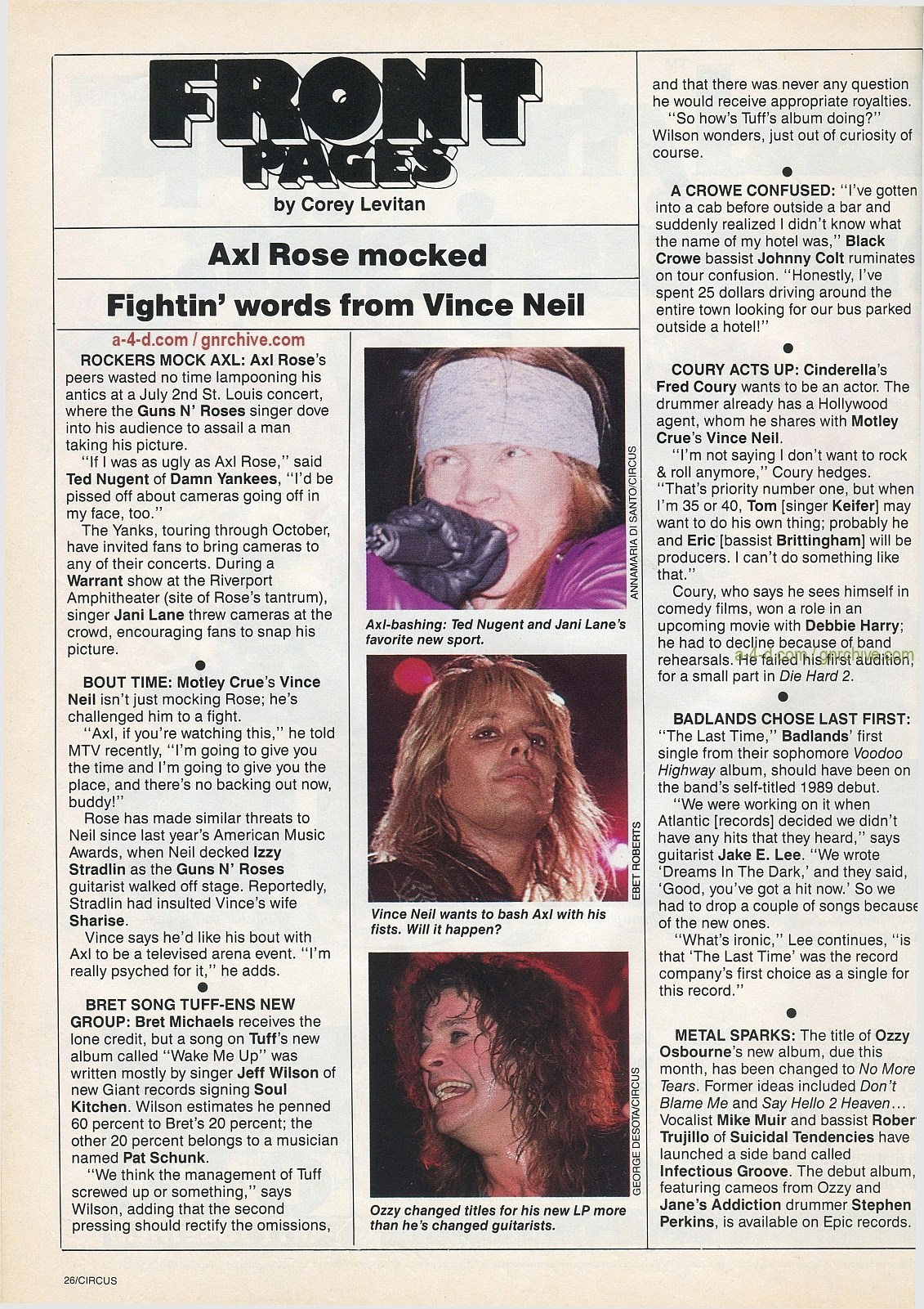 1991.10.31 - Circus - Axl Rose mocked/Fightin' words from Vince Neil 1991-110