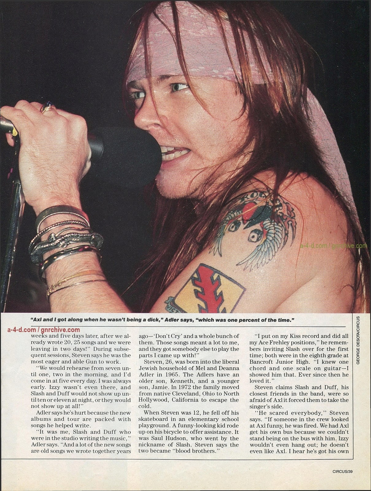 1991.10.31 - Circus - Axl Rose mocked/Fightin' words from Vince Neil 1991-111