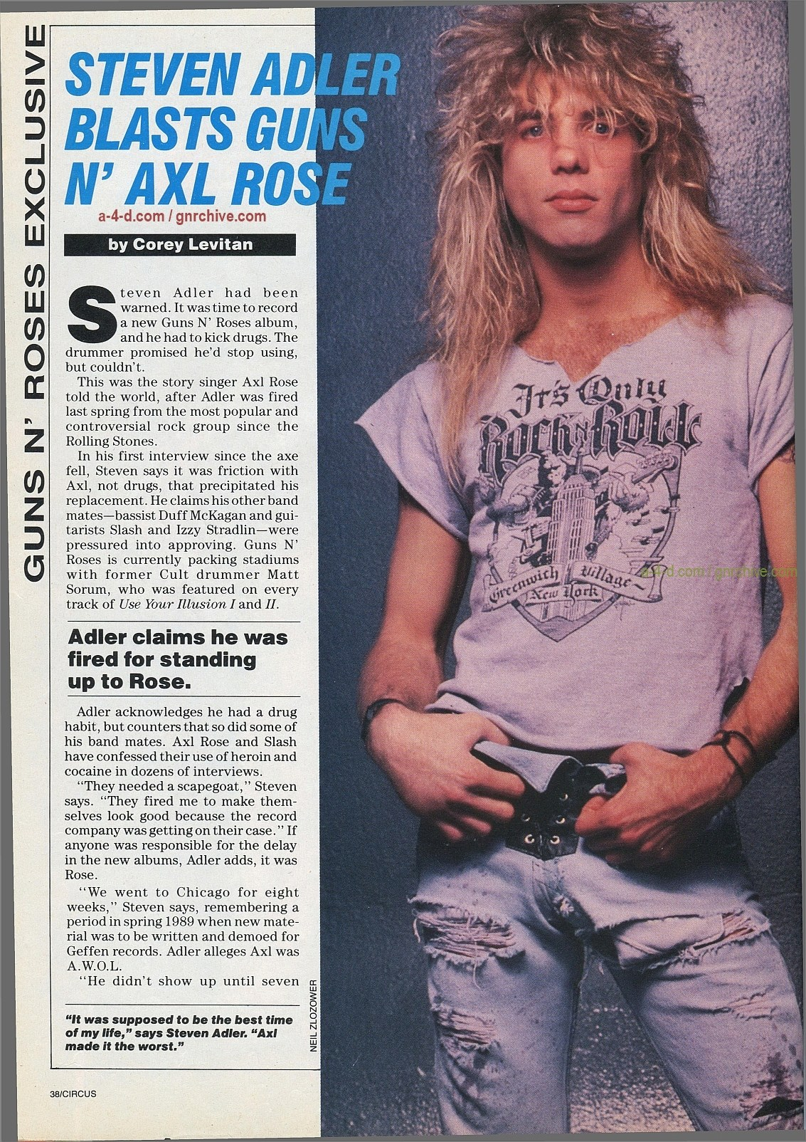 1991.10.31 - Circus - Axl Rose mocked/Fightin' words from Vince Neil 1991-112