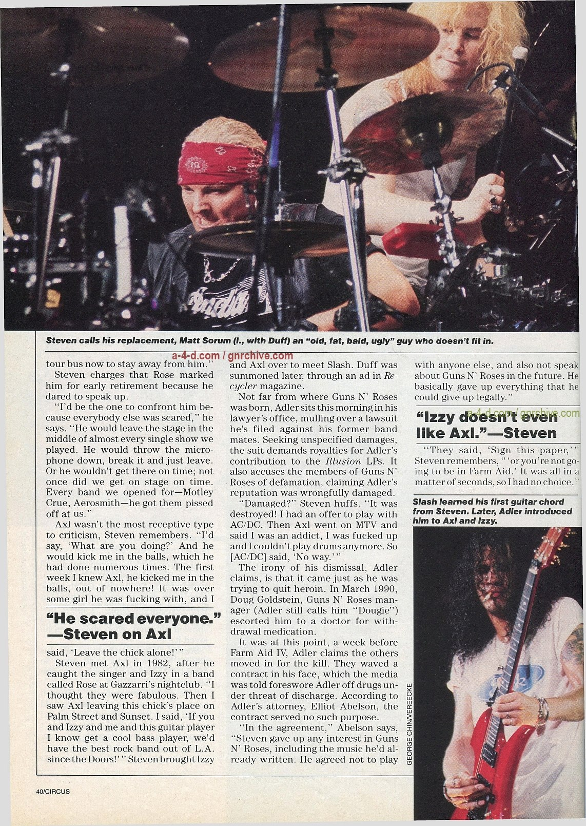 1991.10.31 - Circus - Axl Rose mocked/Fightin' words from Vince Neil 1991-114