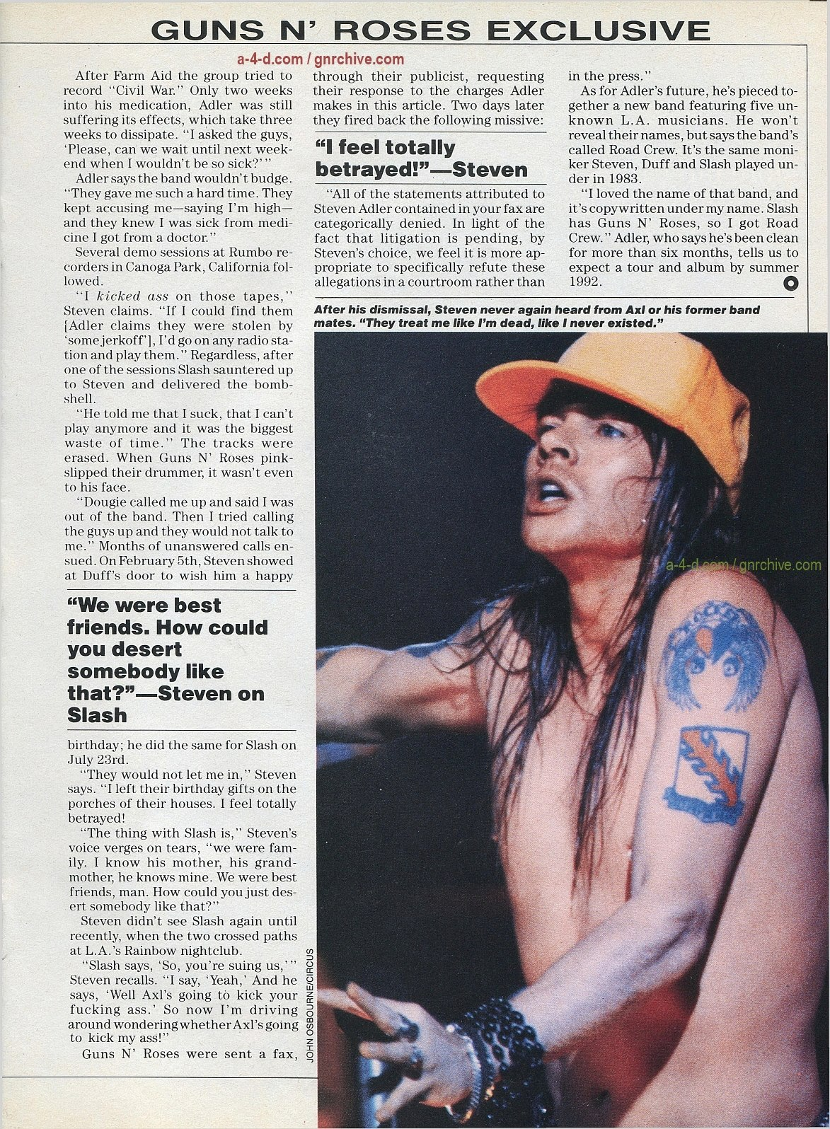 1991.10.31 - Circus - Axl Rose mocked/Fightin' words from Vince Neil 1991-115