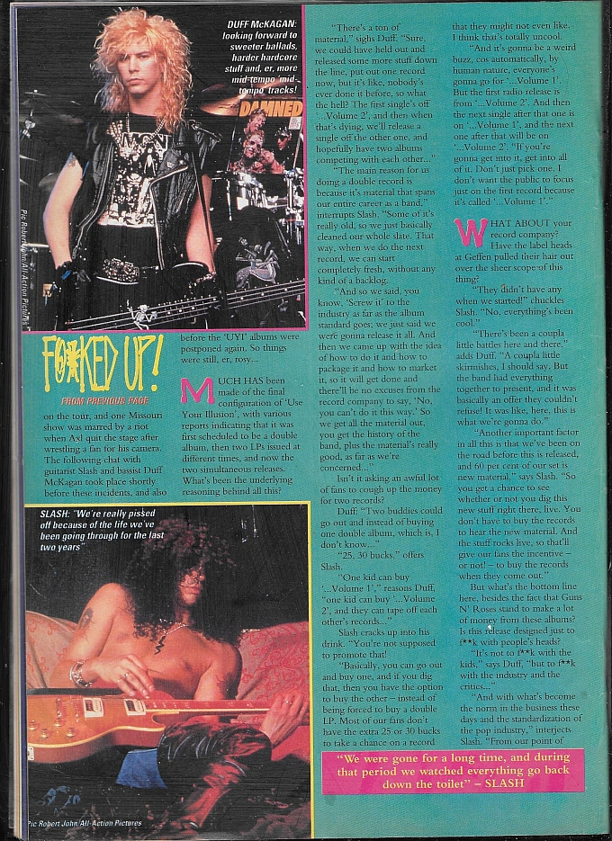 "1991.07.27 - Kerrang - ""We're Still F@*ked Up!"" (Slash, Duff) 1991_010"