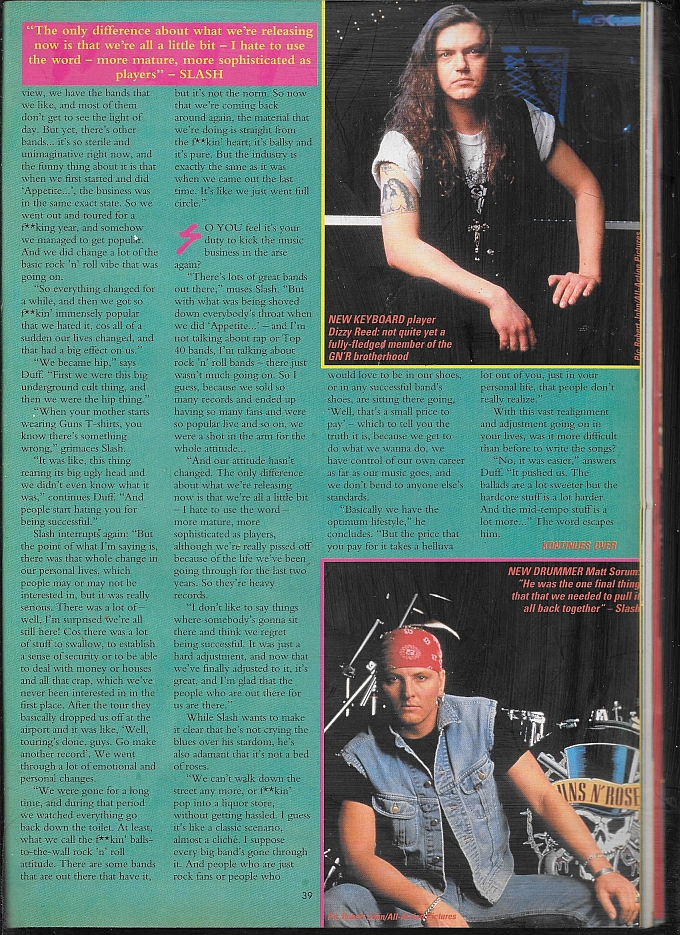 "1991.07.27 - Kerrang - ""We're Still F@*ked Up!"" (Slash, Duff) 1991_013"