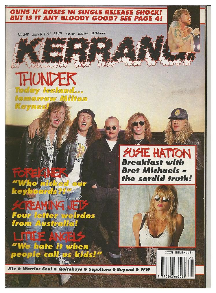 1991.07.20 - Kerrang - Singlez/GN'R latest news update: no 'Illusion' 'til September? 1991_020