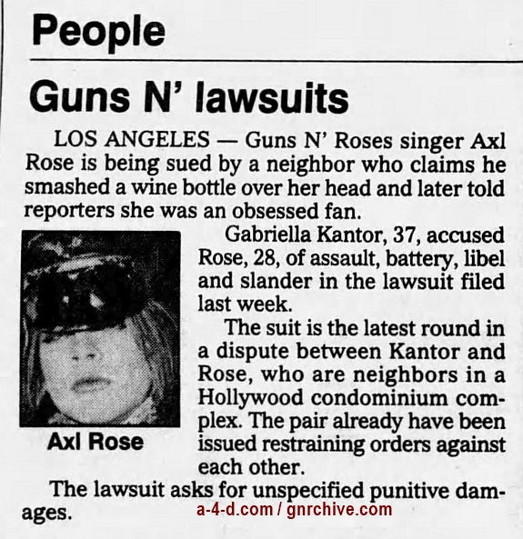 1991.01.31 - The Daily Press - Guns N' Lawsuits (Axl) 1991_026