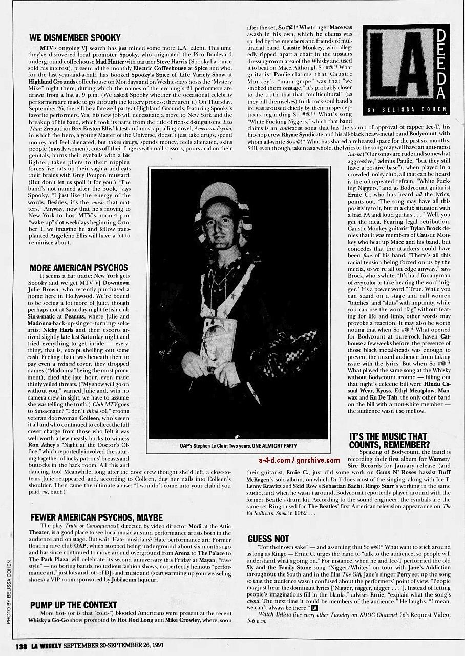 1991.09.20 - L.A. Weekly - L.A. Dee Da (Duff) 1991_032