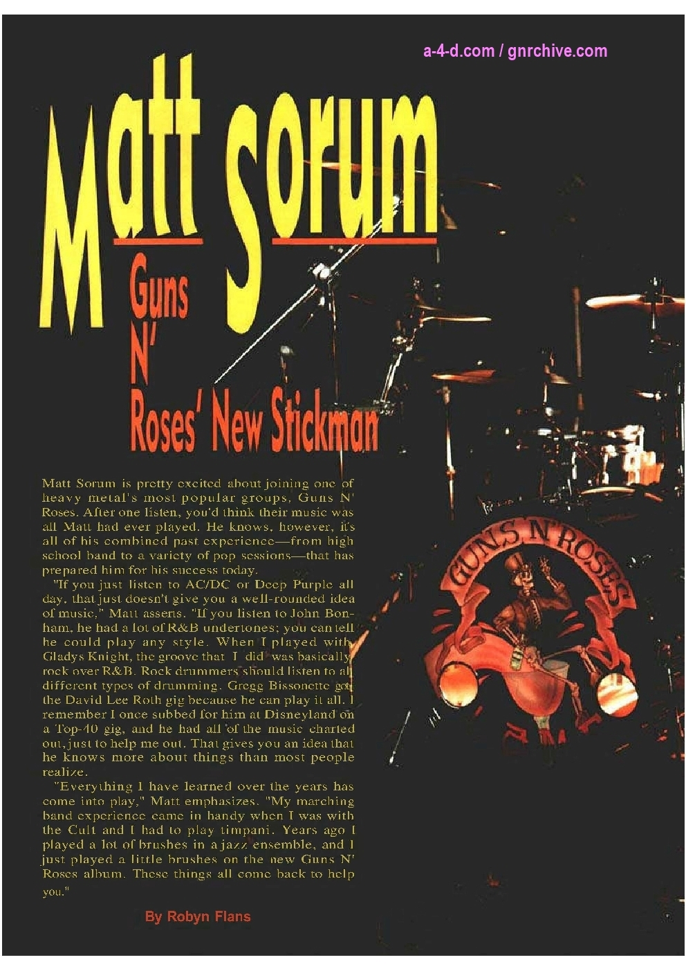 1991.06.DD - Modern Drummer - Matt Sorum: Guns N' Roses' New Stickman 1991_036