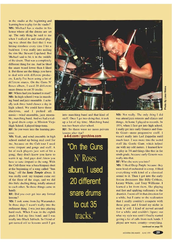 1991.06.DD - Modern Drummer - Matt Sorum: Guns N' Roses' New Stickman 1991_039