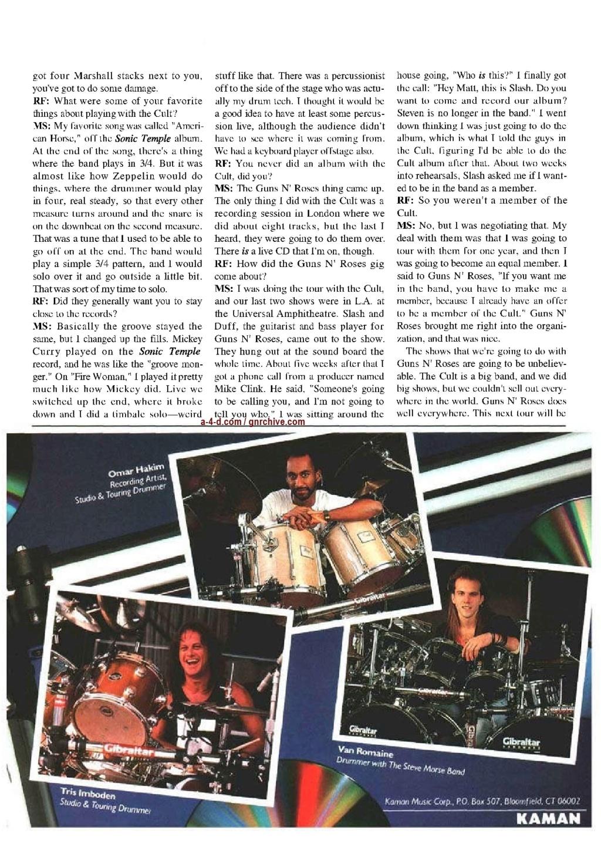 1991.06.DD - Modern Drummer - Matt Sorum: Guns N' Roses' New Stickman 1991_041