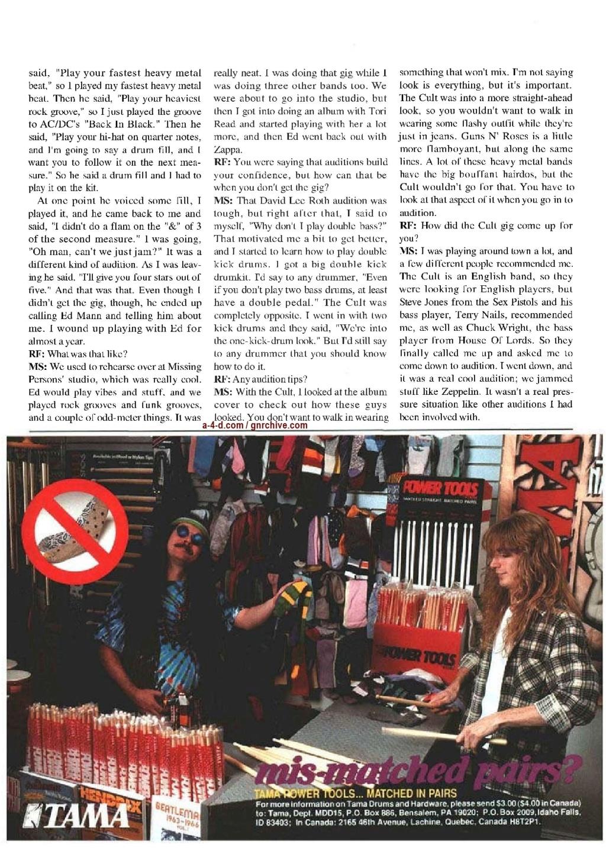 1991.06.DD - Modern Drummer - Matt Sorum: Guns N' Roses' New Stickman 1991_042