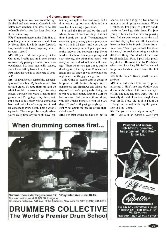 1991.06.DD - Modern Drummer - Matt Sorum: Guns N' Roses' New Stickman 1991_044