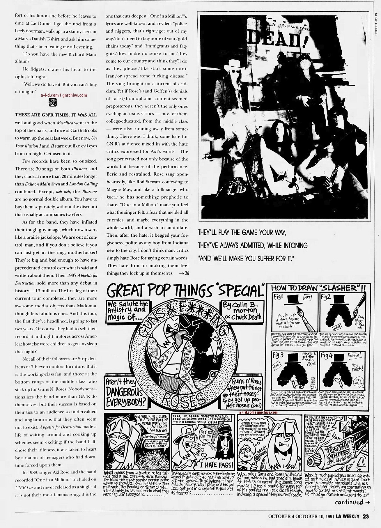 1991.10.04 - L.A. Weekly - Guns N' Roses: Up From Nowhere 1991_114