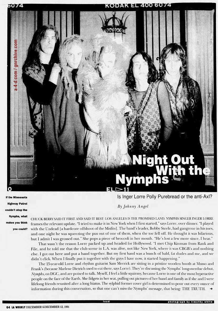 1991.12.06 - L.A. Weekly - A Night Out With The Nymphs (Tom Zutaut) 1991_123