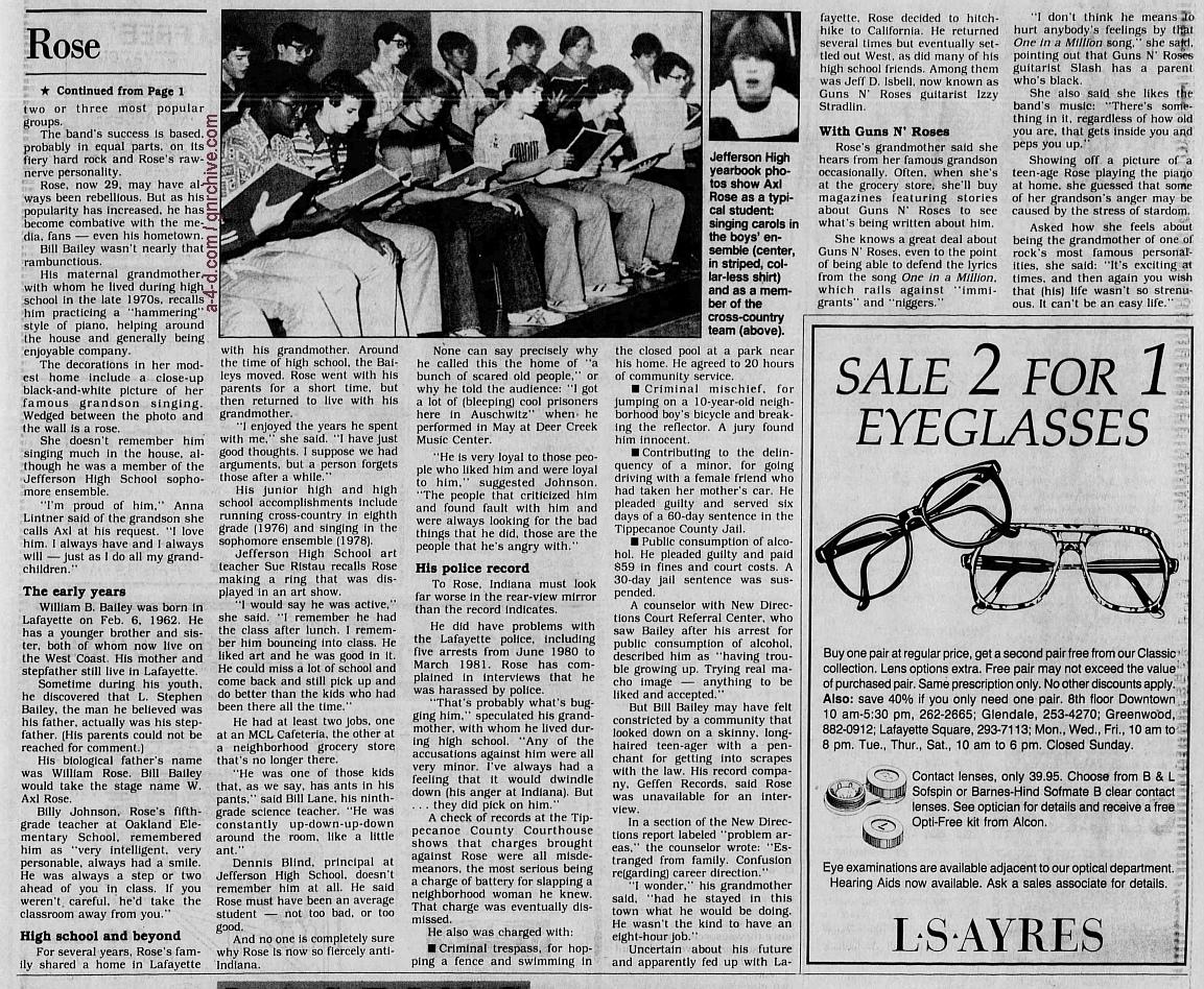 1991.10.20 - Indianapolis Star - Rebel Rocker Axl Rose Wasn't Always The Rage 1991_127