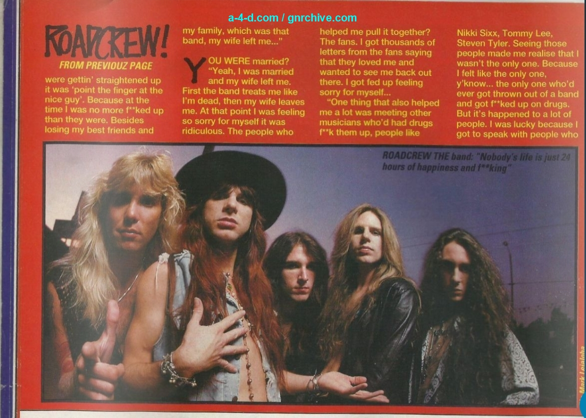 1991.11.09 - Kerrang! - We Are The Roadcrew! (Steven) 1991_134