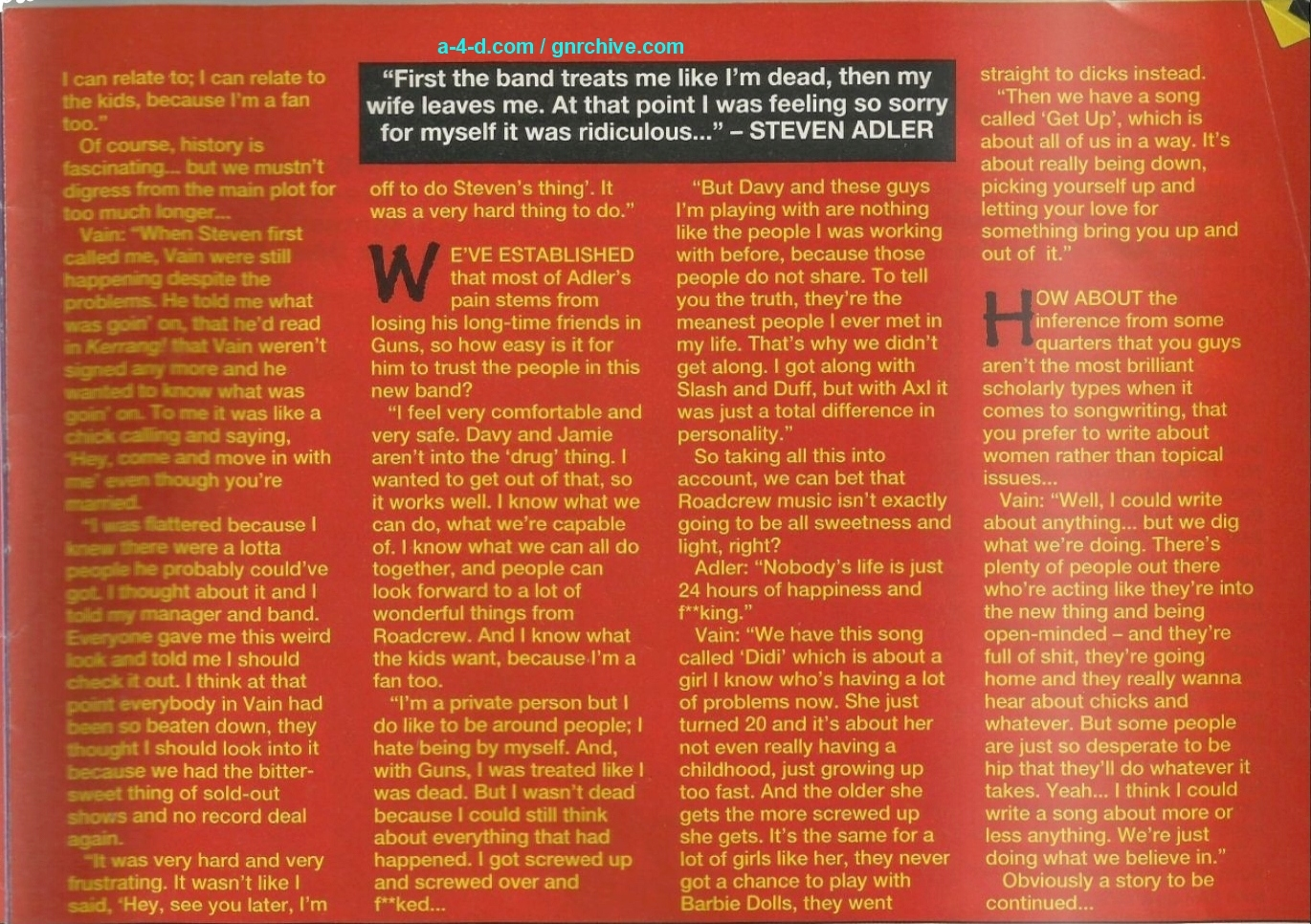 1991.11.09 - Kerrang! - We Are The Roadcrew! (Steven) 1991_135