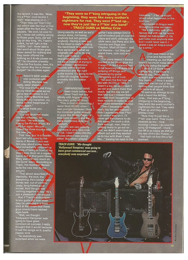 "1992.05.23 - Kerrang - ""I Would Have Said No To Guns N' Roses!"" (Tracii Guns) 1992_014"