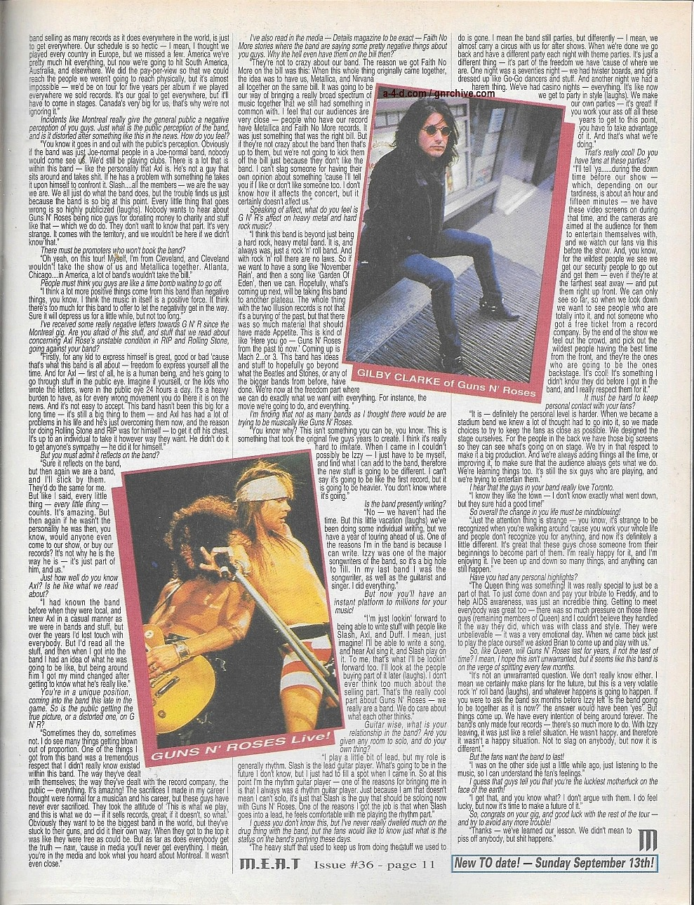 1992.09.DD - M.E.A.T - Guns N' Roses Exclusive: The Dirt On Montreal, Axl And More! (Gilby) 1992_030