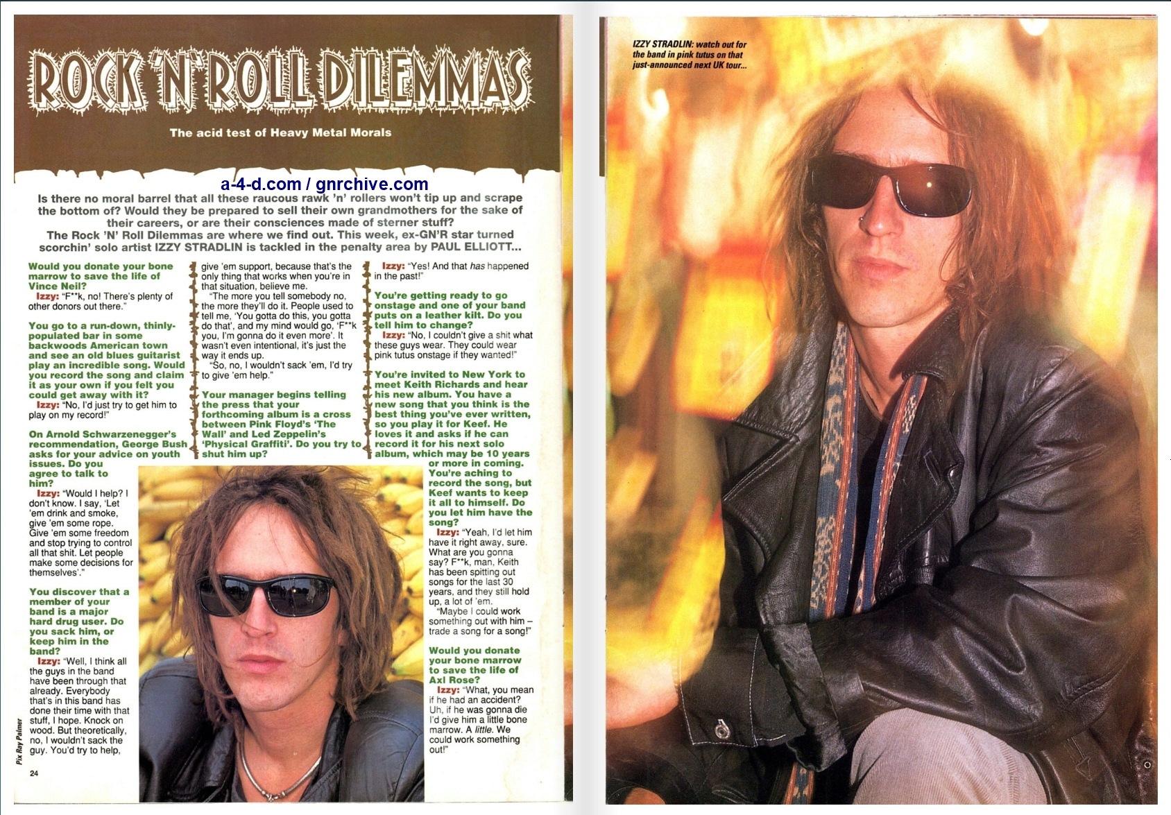 1992.10.31 - Kerrang! - Rock 'N' Roll Dilemmas (Izzy) 1992_153