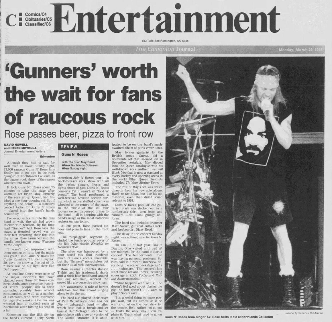 1993.03.28 - Northlands Coliseum, Edmonton, Canada 1993_046