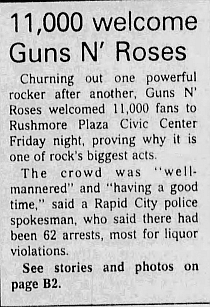 1993.04.09 - Rushmore Plaza Civic Center, Rapid City, USA 1993_073