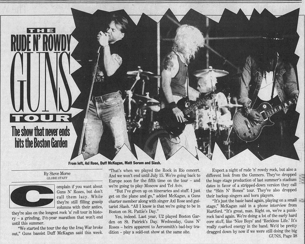1993.03.12 - The Boston Globe - The Rude N' Rowdy Guns Tour (Duff) 1993_083