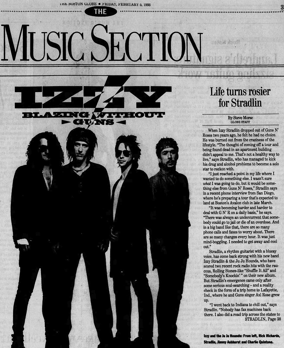 1993.02.05 - The Boston Globe - Izzy Blazing Without Guns 1993_092