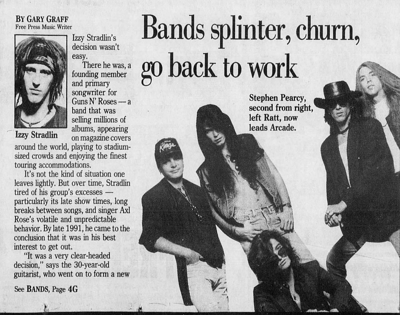 1993.02.14 - Detroit Free Press - Bands splinter, churn, go back to work (Izzy) 1993_094
