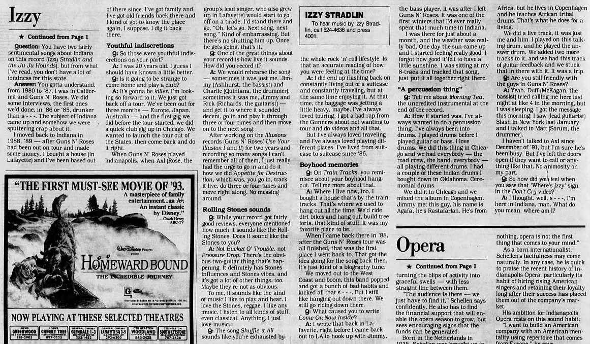 1993.02.21 - The Indianapolis Star - No stradlin' from Izzy 1993_097