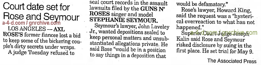 1993.12.23 - AP/The Galveston Daily News - Court date set for Rose and Seymour 1993_143