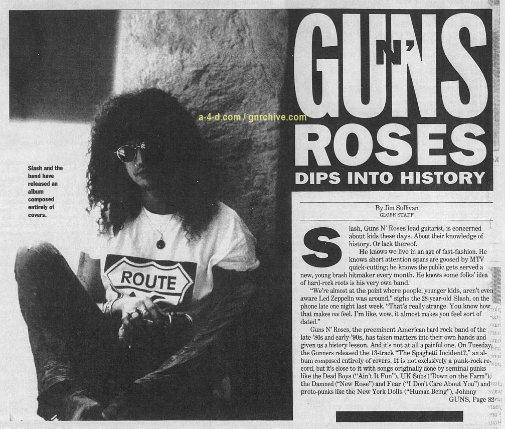 1993.11.26 - The Boston Globe - Guns N' Roses Dips Into History (Slash) 1993_151